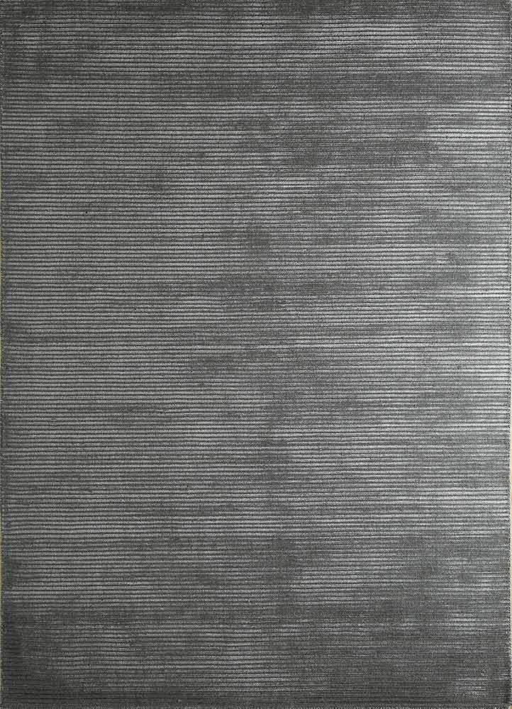 HWV-2000 Steel Wool/Steel Wool grey and black wool and viscose hand loom Rug