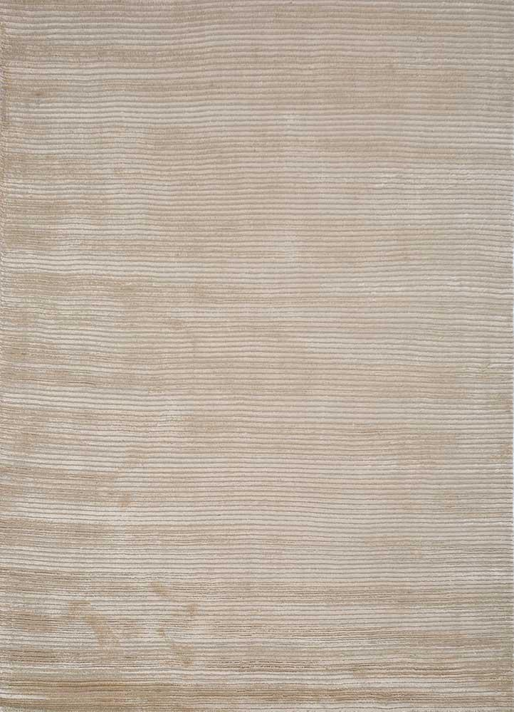 HWV-2000 Medium Tan/Medium Tan beige and brown wool and viscose hand loom Rug