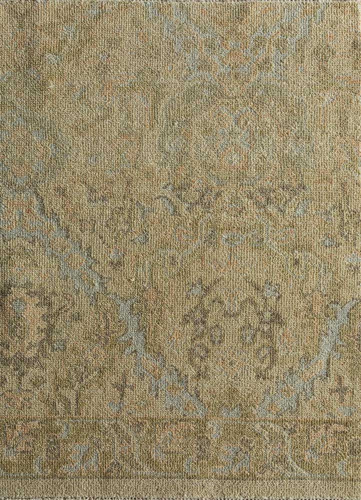 JNLP-07 Soft Gold/Medium Gold gold wool hand knotted Rug