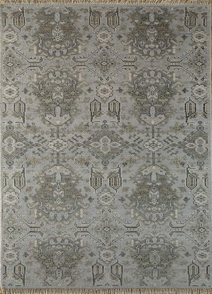 LCA-616 BlueBell/Ashwood blue wool hand knotted Rug