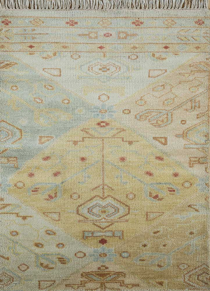 erbe gold wool hand knotted Rug - HeadShot