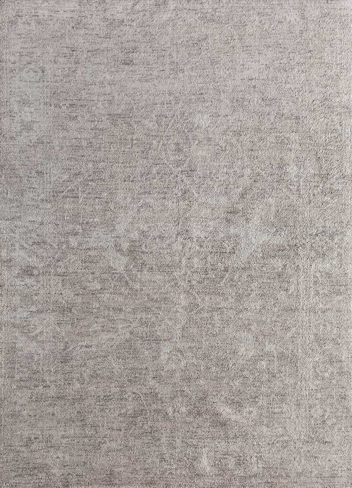 outdoor grey and black polyester hand knotted Rug - HeadShot