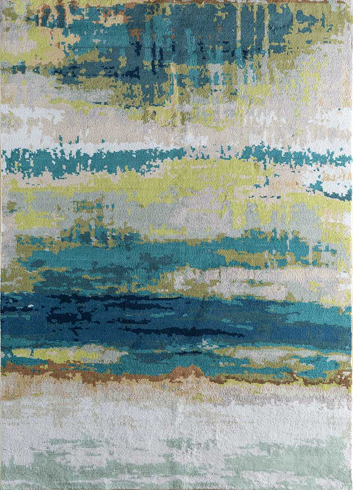outdoor ivory polyester hand knotted Rug - HeadShot