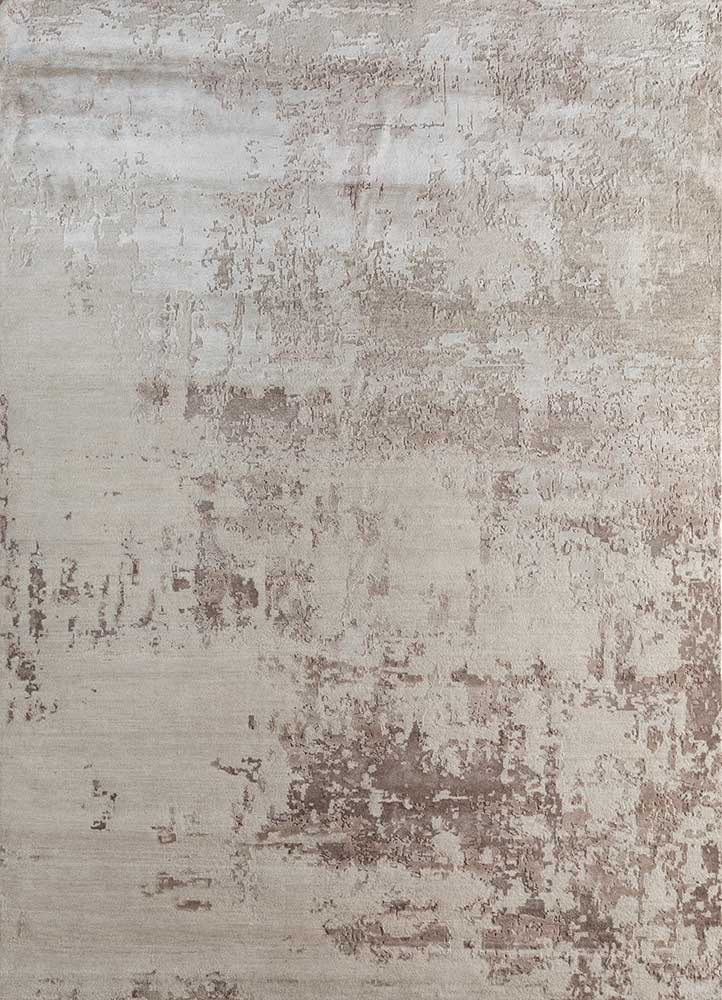 LU-9031(CS-01) Antique White/White Sand ivory wool and bamboo silk hand knotted Rug