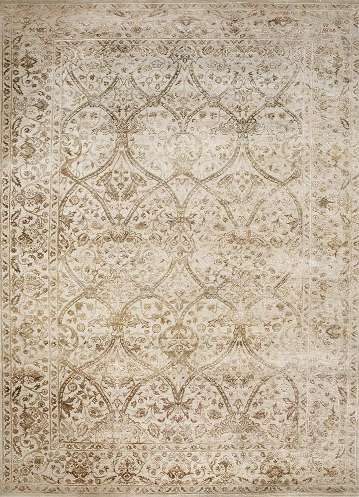 NE-2349 Mix/Mix multi wool and silk hand knotted Rug