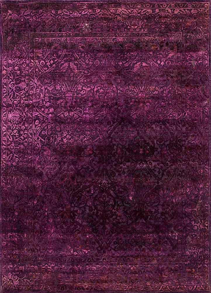 NE-2349 Italian Plum/Italian Plum pink and purple wool and silk hand knotted Rug