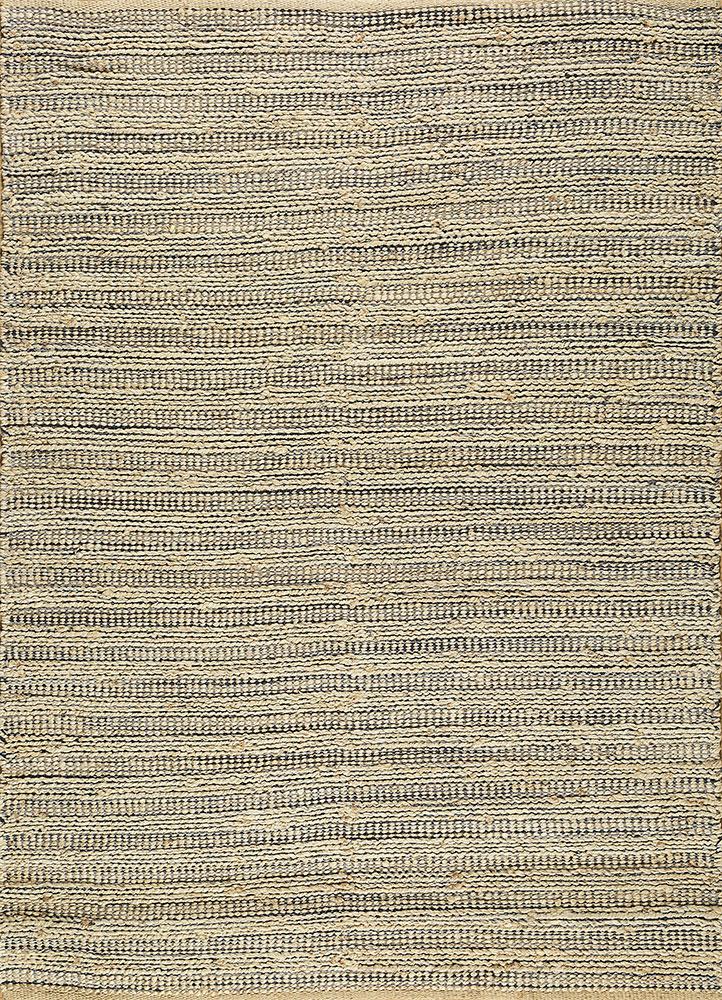 PDJR-01 Bleach/Navy blue jute and hemp jute rugs Rug