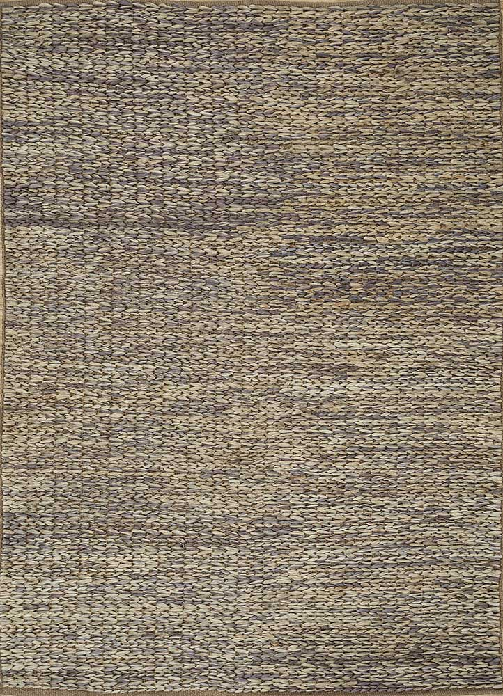abrash blue jute and hemp flat weaves Rug - HeadShot