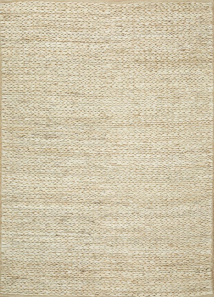 PDJT-118 White/White ivory jute and hemp flat weaves Rug