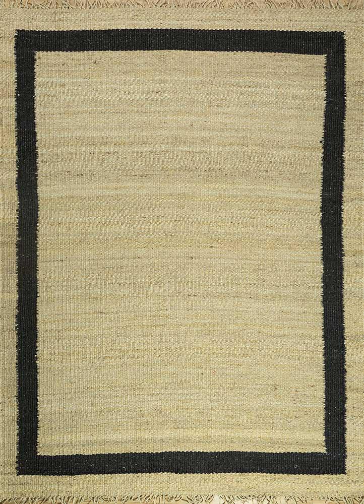 PDJT-121 Eucalyptus/Ebony ivory jute and hemp jute rugs Rug