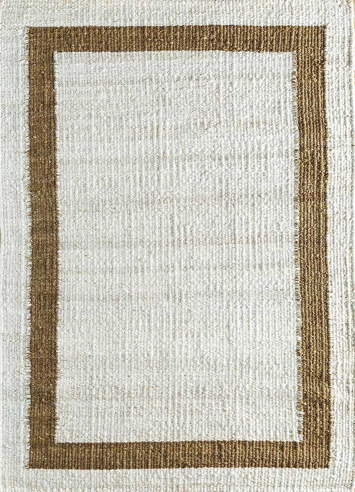 PDJT-121 White/Brown ivory jute and hemp jute rugs Rug
