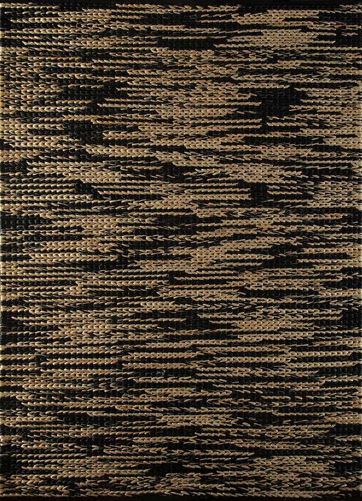 PDJT-238 Ebony/Eucalyptus grey and black jute and hemp jute rugs Rug