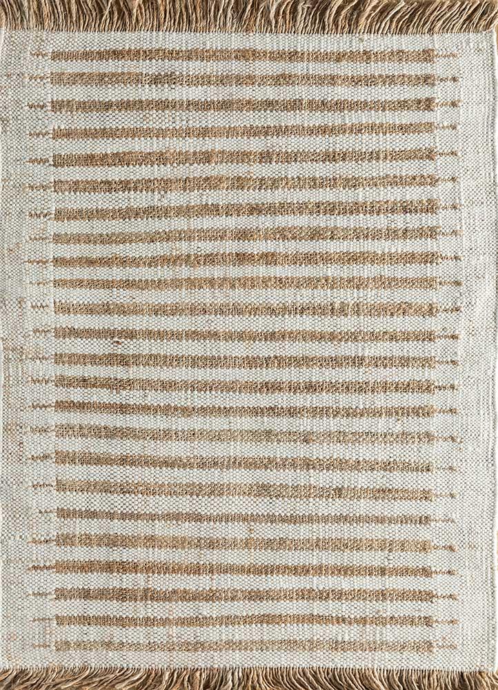 spatial ivory jute and hemp jute rugs Rug - HeadShot