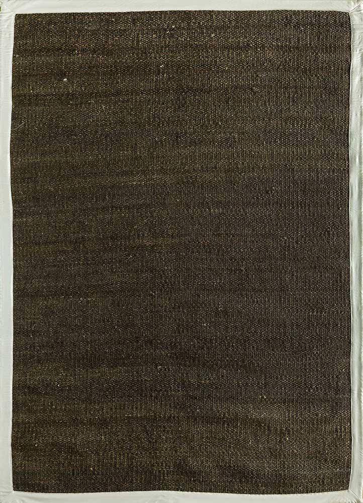 abrash grey and black jute and hemp flat weaves Rug - HeadShot