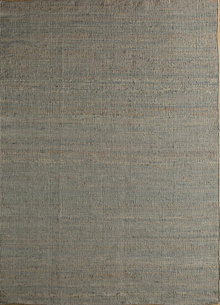 PDJT-306 Chicory/Natural blue jute and hemp jute rugs Rug