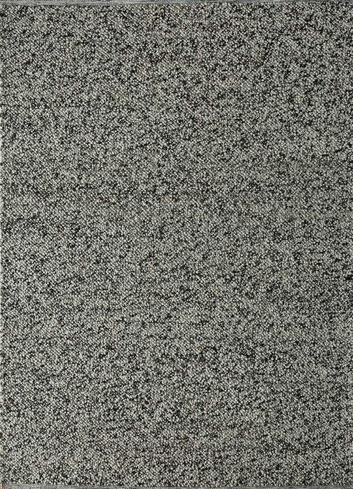 PDJW-23 Sterling Silver/Ebony grey and black jute and hemp flat weaves Rug