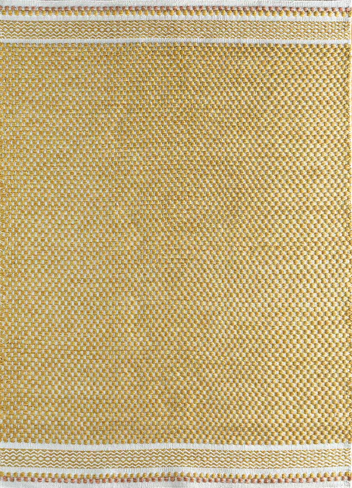 abrash gold polyester flat weaves Rug - HeadShot