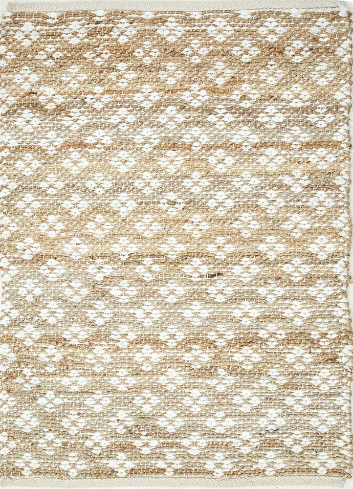 kaross ivory jute and hemp jute rugs Rug - HeadShot