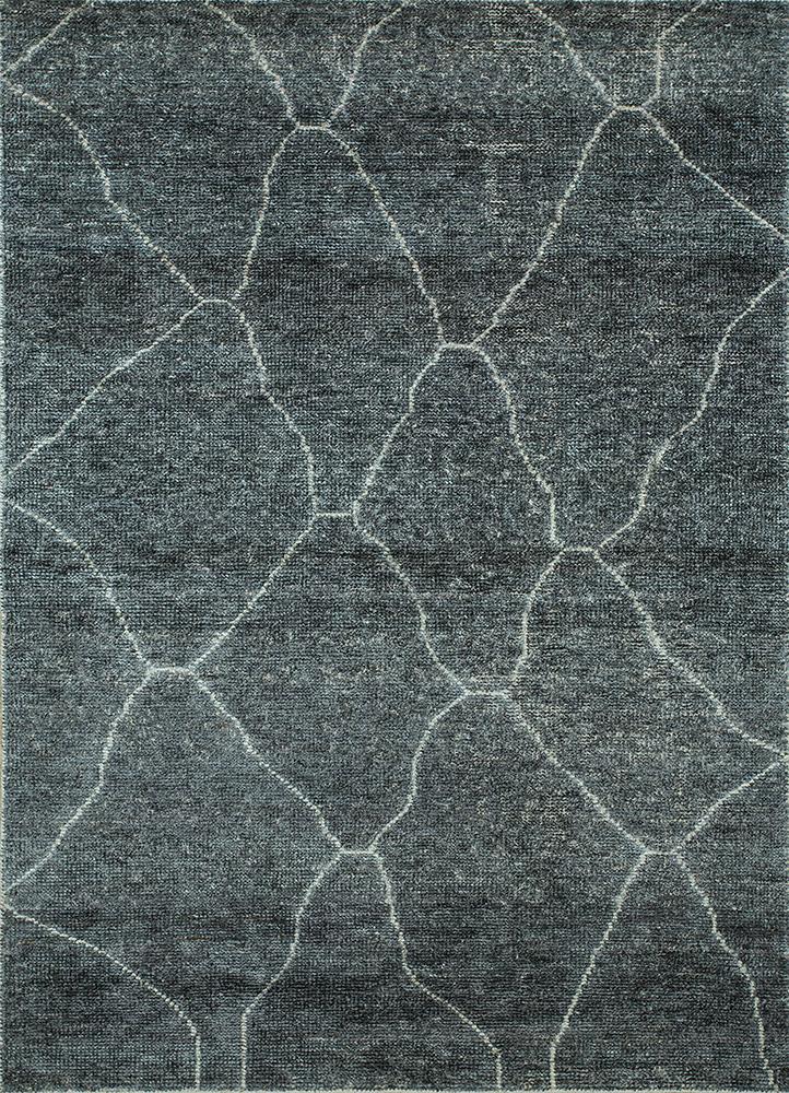 anatolia grey and black viscose flat weaves Rug - HeadShot