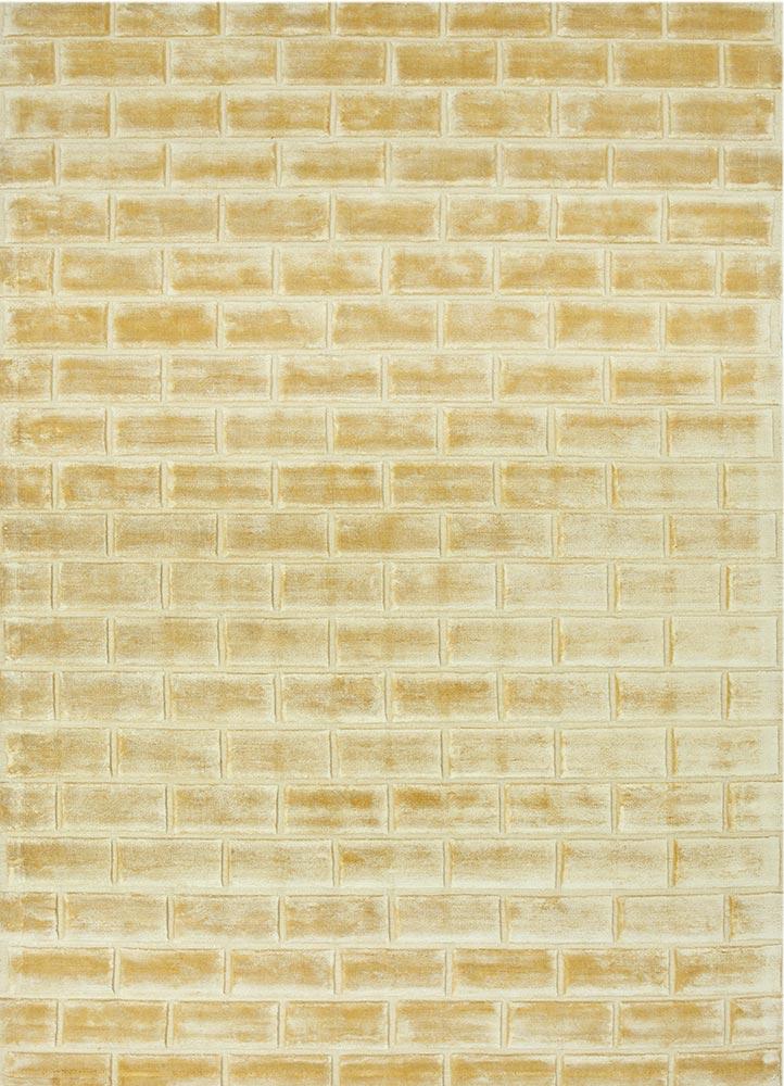 castle gold viscose hand loom Rug - HeadShot