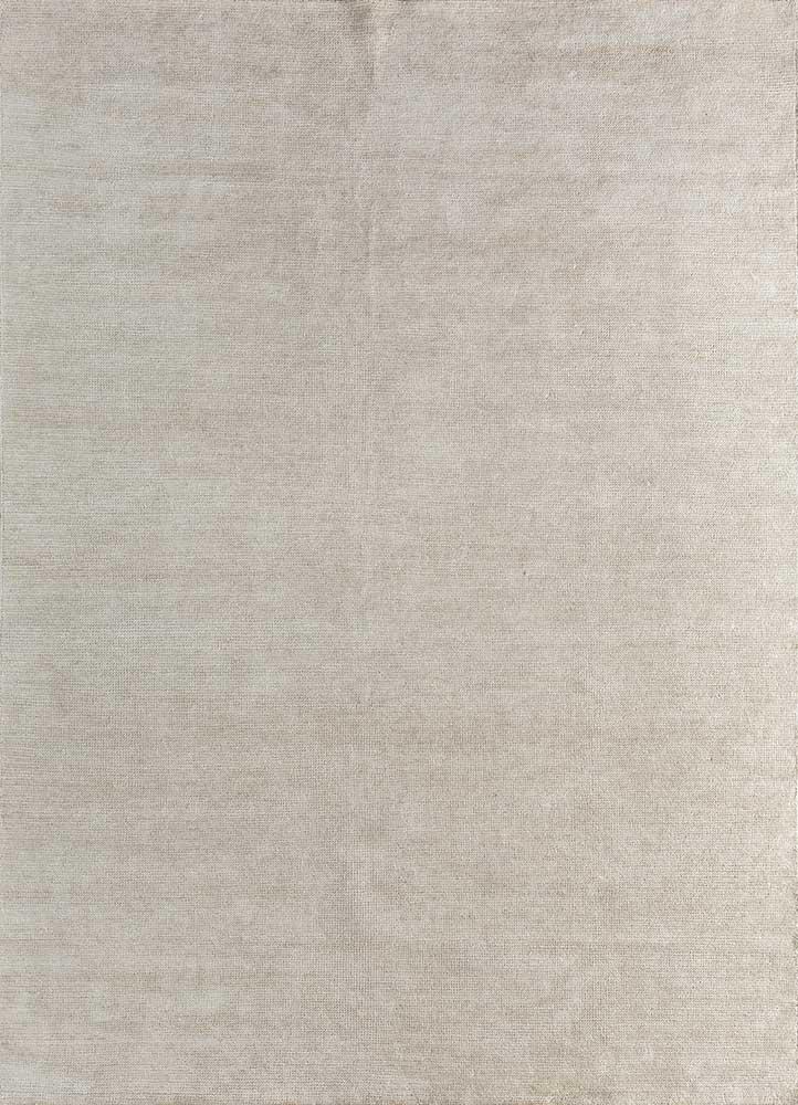 outdoor beige and brown viscose hand loom Rug - HeadShot