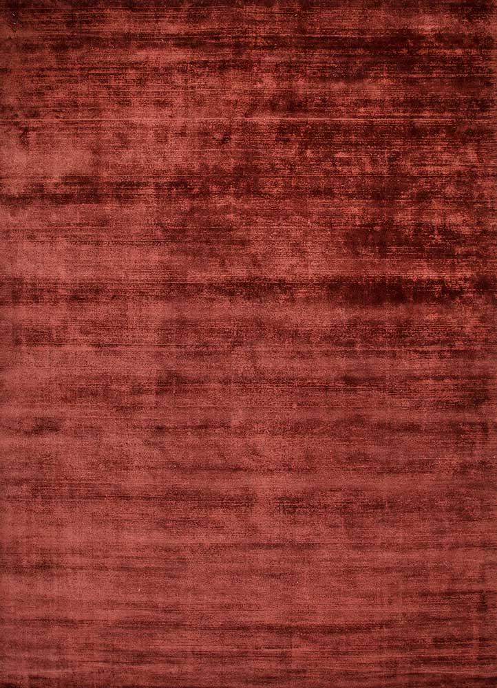 PHPV-20 Plum/Plum red and orange viscose hand loom Rug