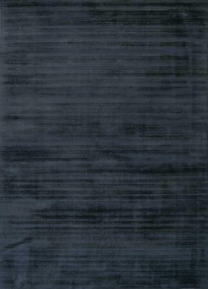 PHPV-20 Dark Navy/Dark Navy blue viscose hand loom Rug