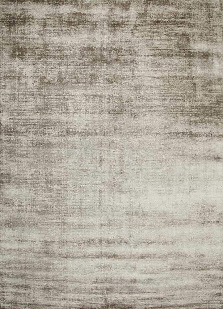 yasmin beige and brown viscose hand loom Rug - HeadShot