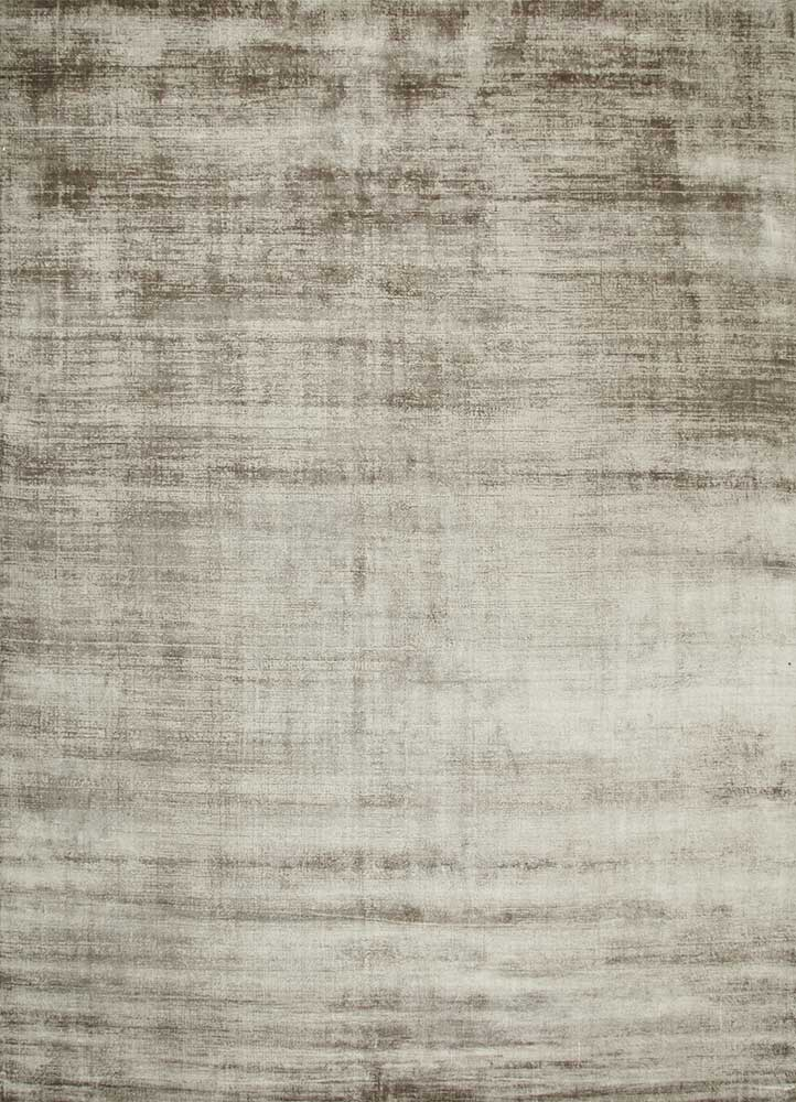 PHPV-20 Fossil/Fossil beige and brown viscose hand loom Rug