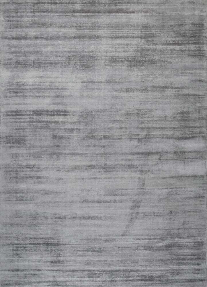 PHPV-20 Stone Gray/Stone Gray grey and black viscose hand loom Rug