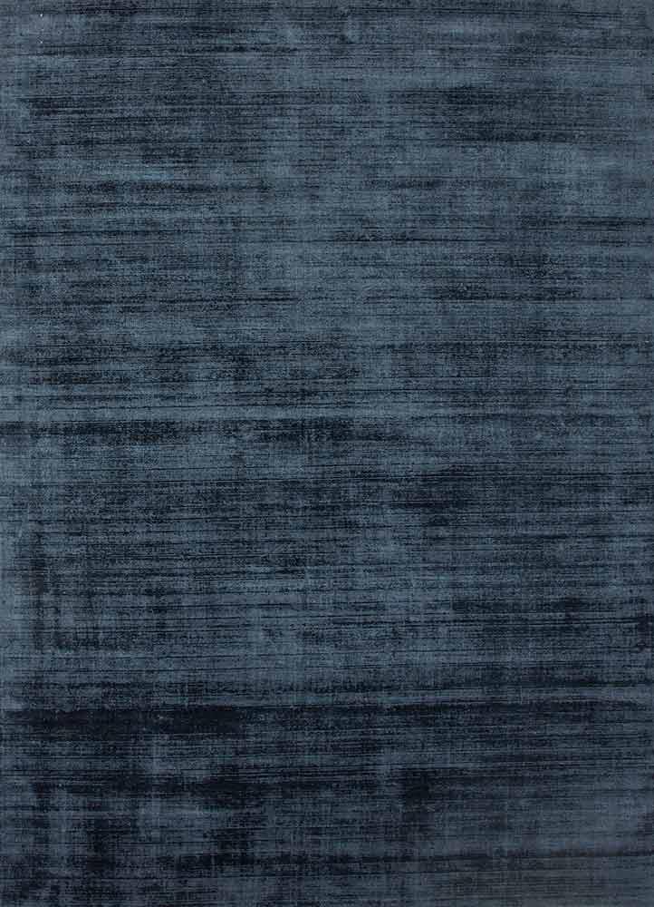 PHPV-20 Navy Blue/Navy Blue blue viscose hand loom Rug