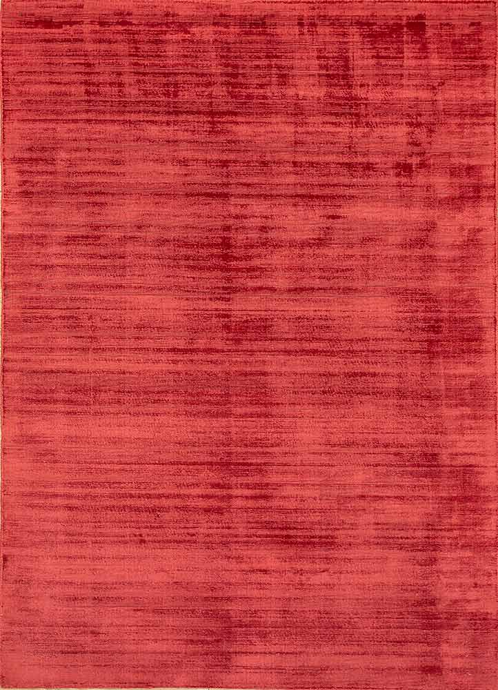 PHPV-20 Deep Crimson/Deep Crimson red and orange viscose hand loom Rug