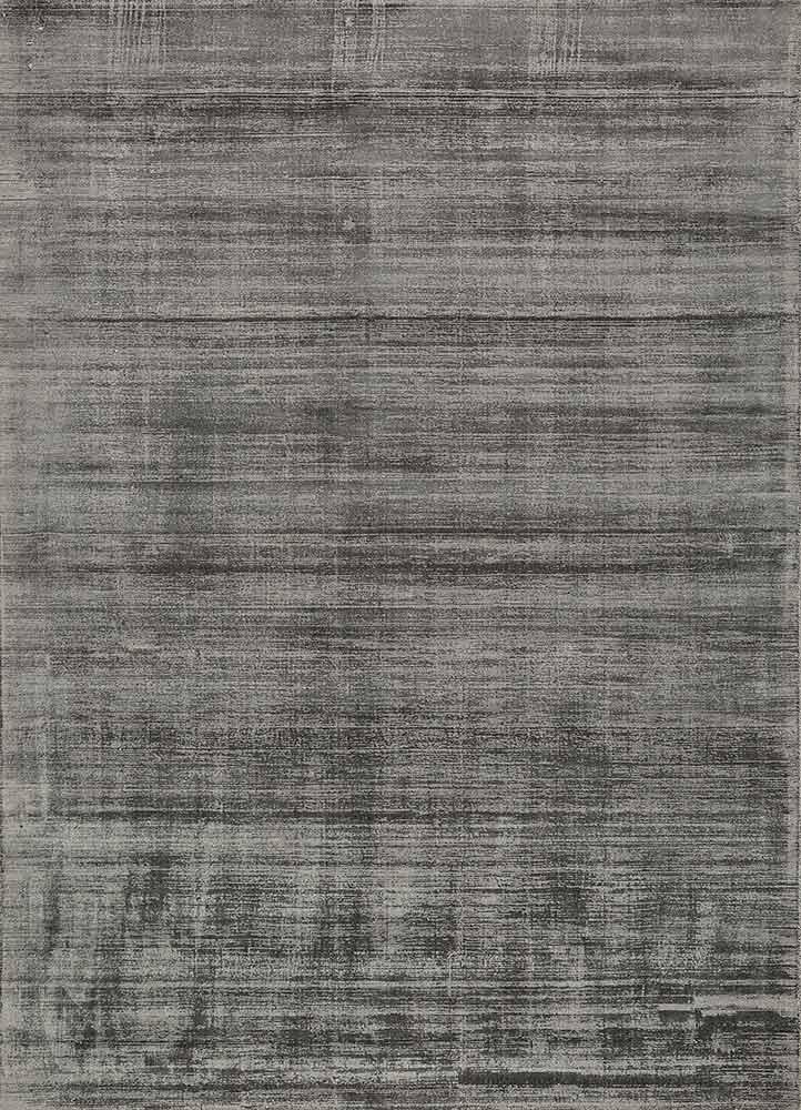 PHPV-20 Steel Wool/Steel Wool grey and black viscose hand loom Rug
