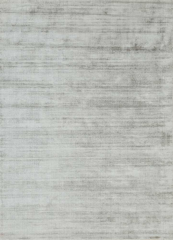 PHPV-20 Pewter/Pewter grey and black viscose hand loom Rug