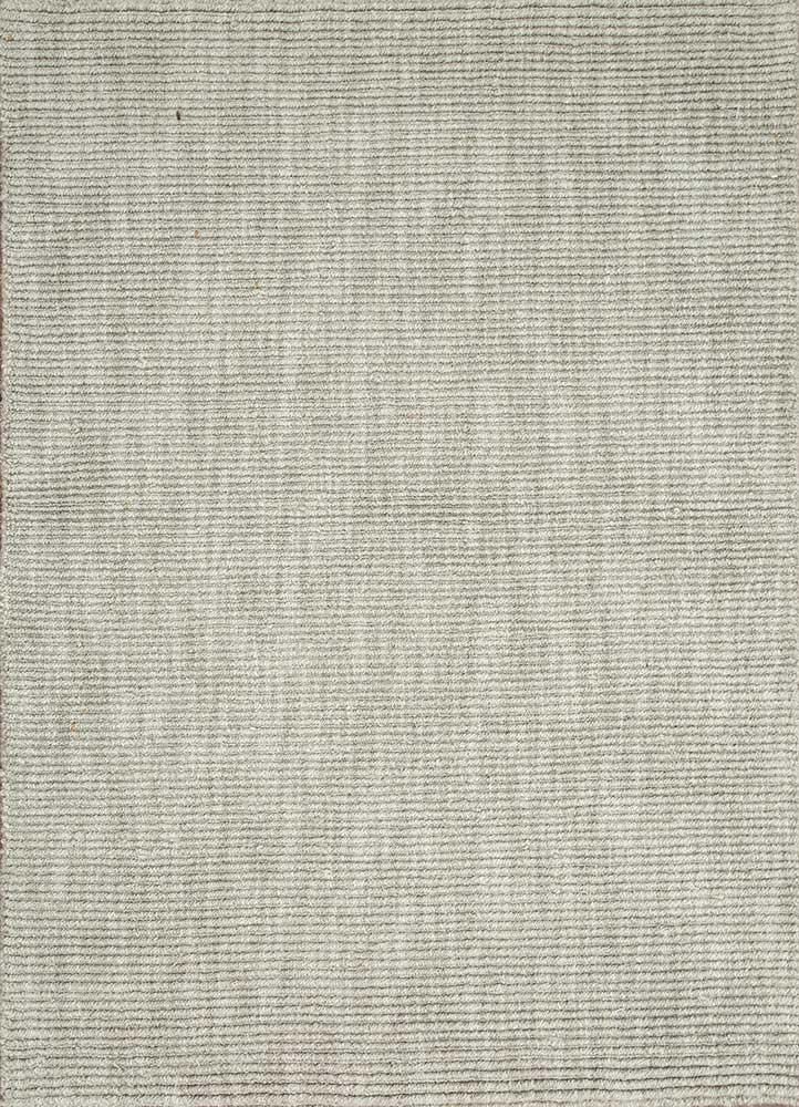konstrukt grey and black wool hand loom Rug - HeadShot