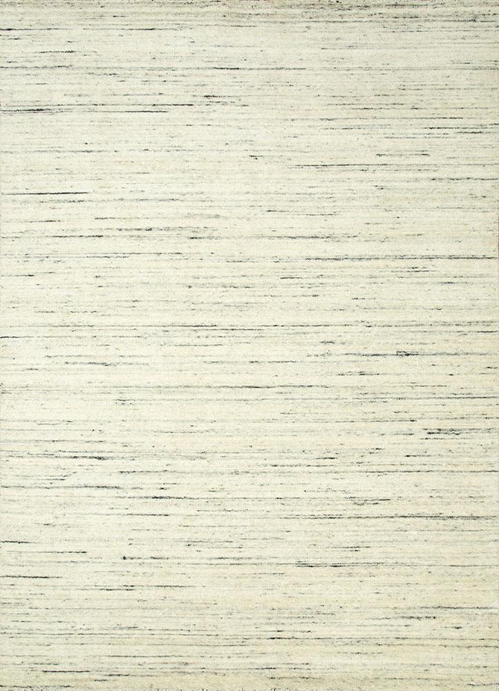 eron beige and brown wool hand loom Rug - HeadShot