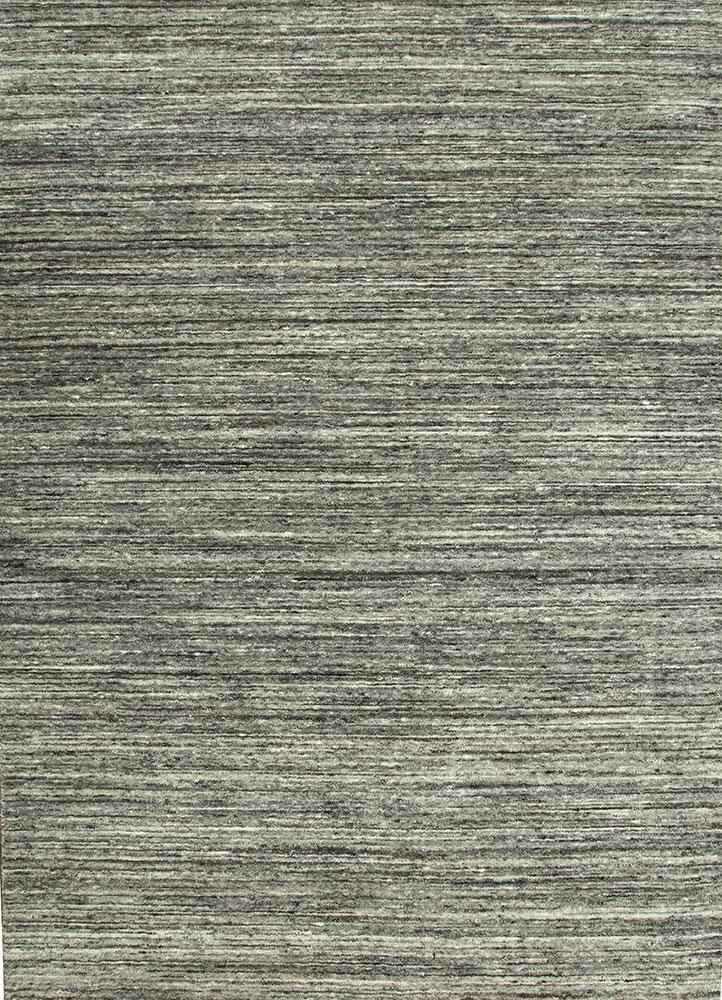 PHWL-119 Natural Soot/Natural Soot grey and black wool hand loom Rug