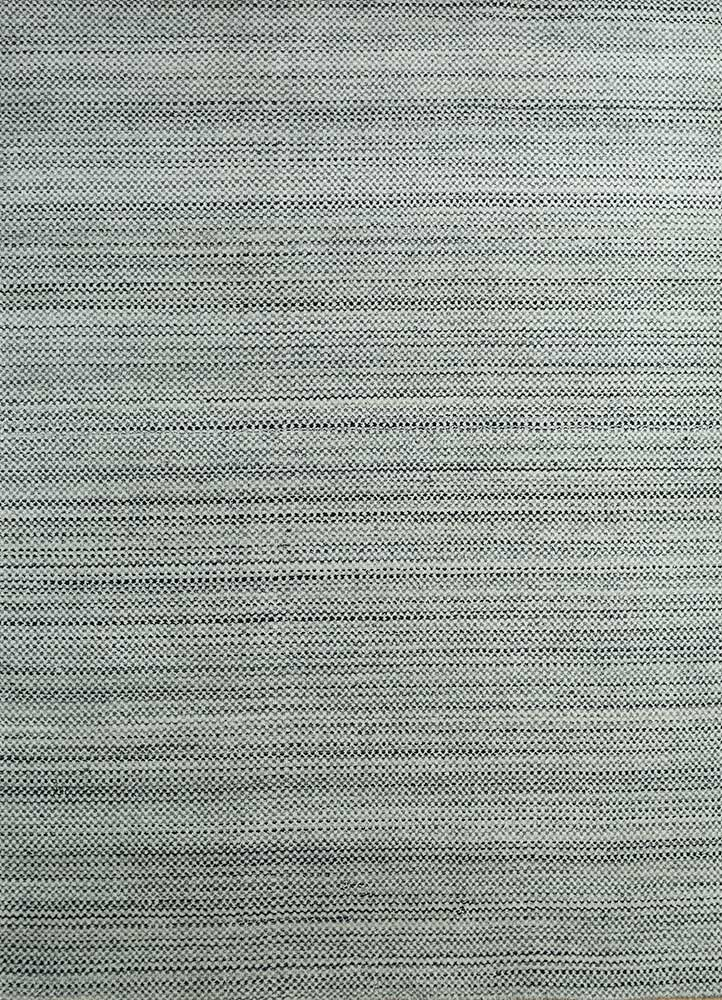 PHWL-213 Blue Daisy/Marble blue wool hand loom Rug