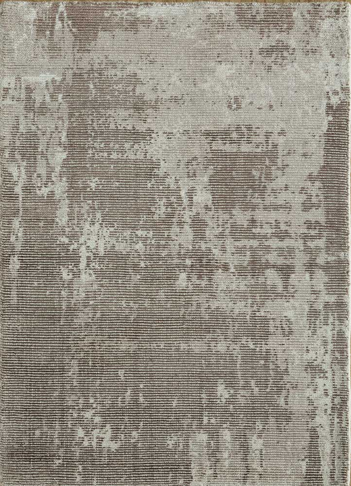 PHWV-63 Taupe Gray/Taupe Gray beige and brown wool and viscose hand loom Rug