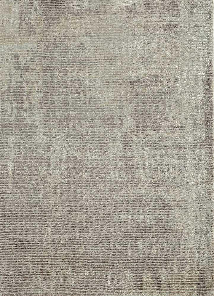 acar grey and black wool and viscose hand loom Rug - HeadShot