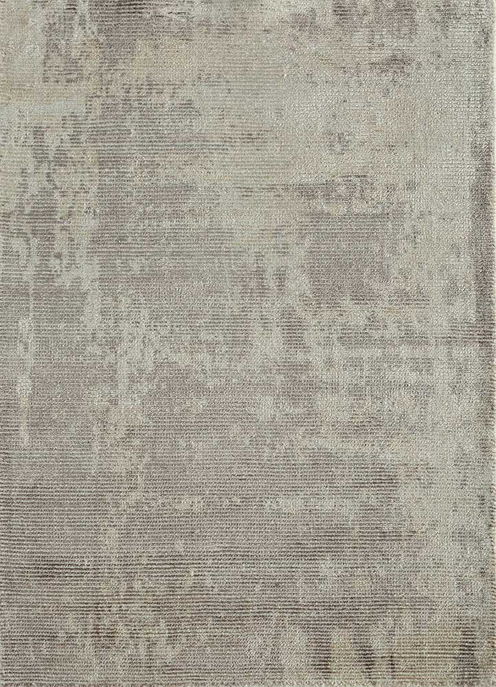 PHWV-63 Frost Gray/Frost Gray grey and black wool and viscose hand loom Rug