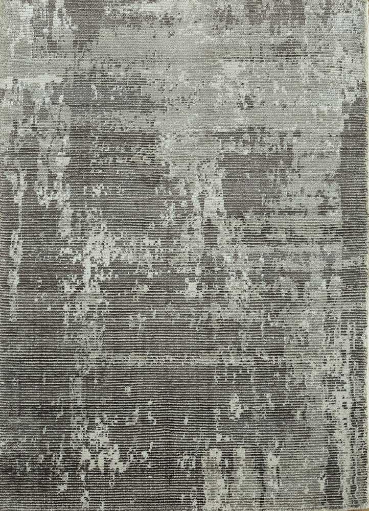 PHWV-63 Liquorice/Liquorice grey and black wool and viscose hand loom Rug