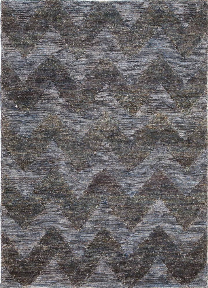anatolia blue jute and hemp jute rugs Rug - HeadShot