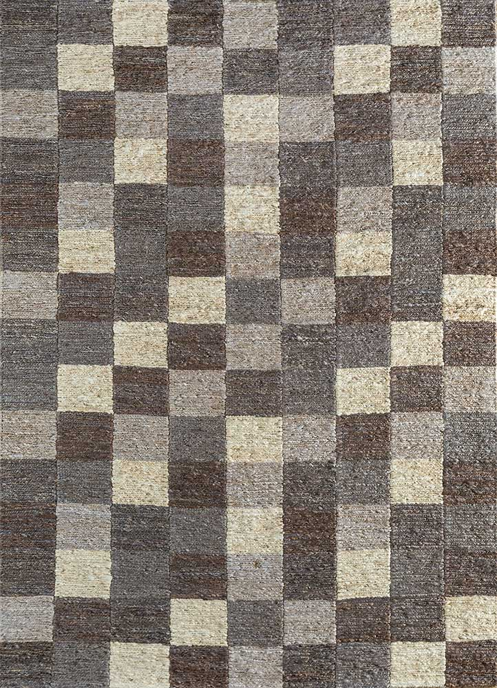 anatolia grey and black jute and hemp jute rugs Rug - HeadShot