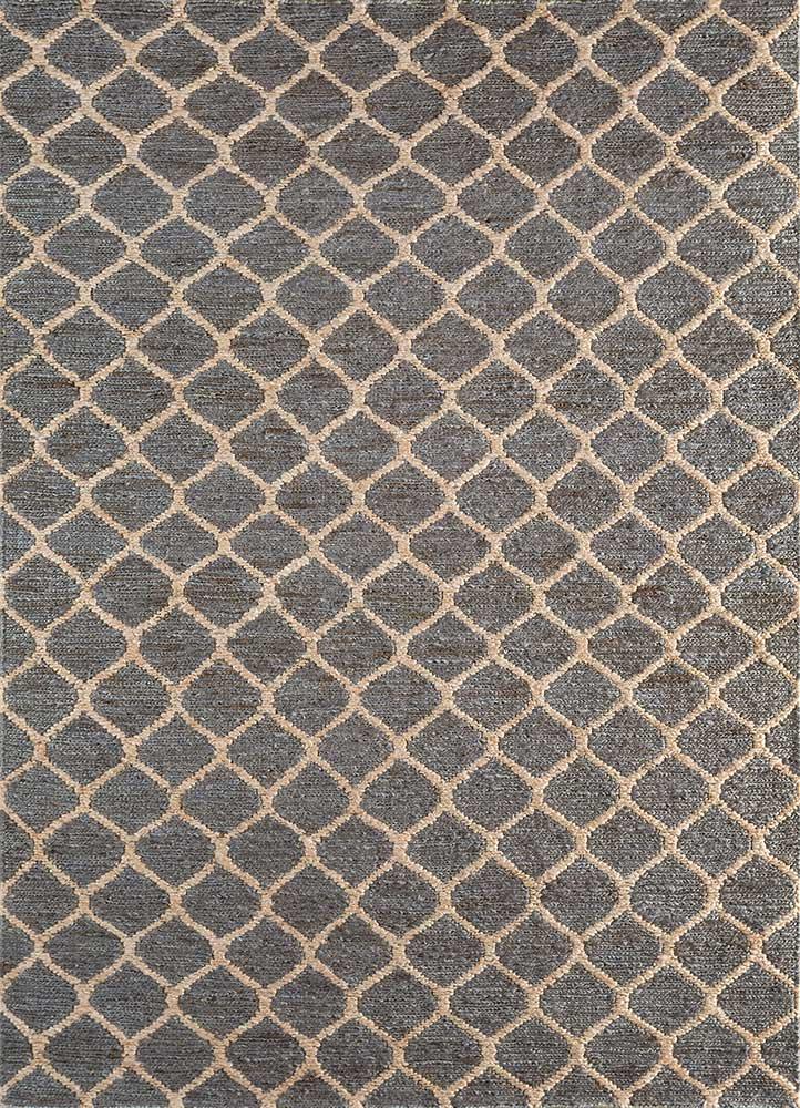 spatial grey and black jute and hemp jute rugs Rug - HeadShot