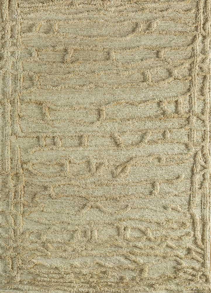 abrash ivory jute and hemp flat weaves Rug - HeadShot