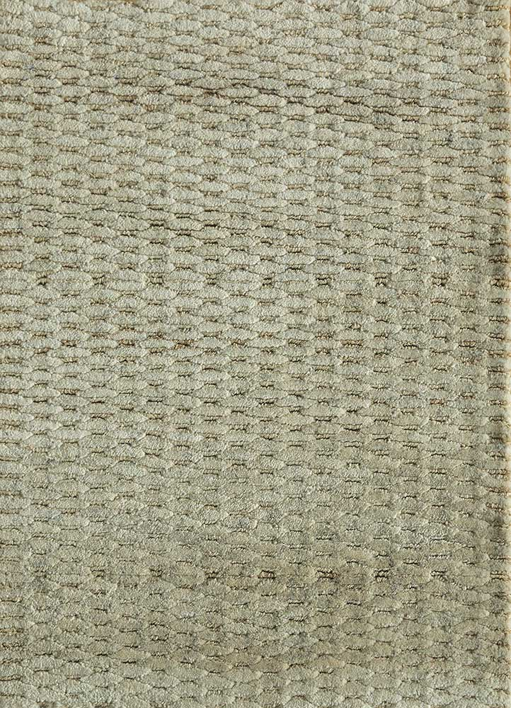 PKJW-06 Cloud White/Cloud White ivory jute and hemp hand knotted Rug