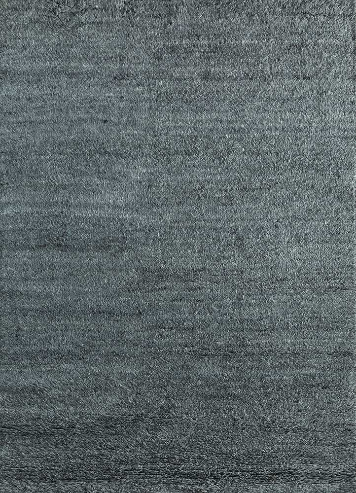 PKWL-624 Stone Gray/Stone Gray grey and black wool hand knotted Rug