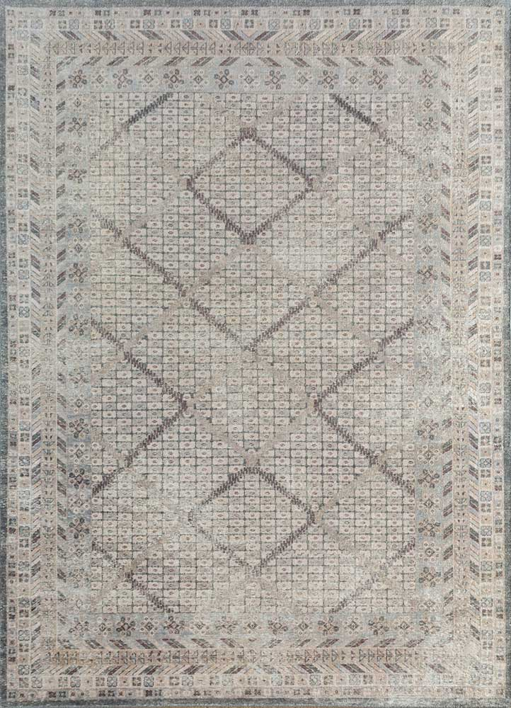 revolution blue wool hand knotted Rug - HeadShot