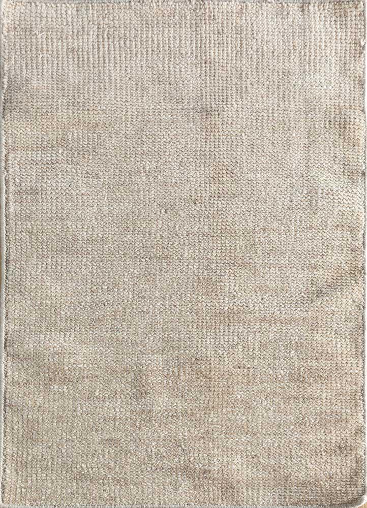 zuri beige and brown wool hand knotted Rug - HeadShot